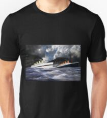 RMS Titanic and her sister the HMHS Britannic Unisex T-Shirt