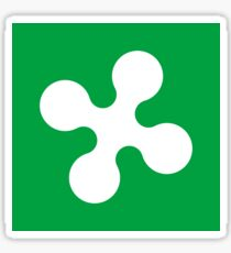 Lombardy flag Sticker