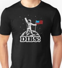 Astronaut Dibs on Moon America Unisex T-Shirt