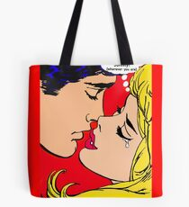 Pop art love, romance, tears, kisses Tote Bag