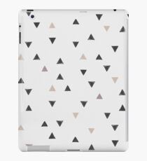 DOWN UP / scandi white / warm grey / flax / lavender iPad Case/Skin