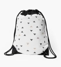 DOWN UP / scandi white / warm grey / flax / lavender Drawstring Bag