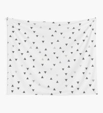 DOWN UP / scandi white / warm grey / flax / lavender Wall Tapestry