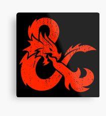 Dungeons&Dragons Metal Print