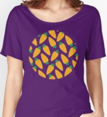 Carrotty Carrots Pattern | Transparent Women's Relaxed Fit T-Shirt