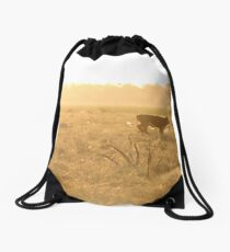 Calf on the Run Drawstring Bag