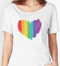 LGBTQ Aquarell Liebe Herz Baggyfit T-Shirt