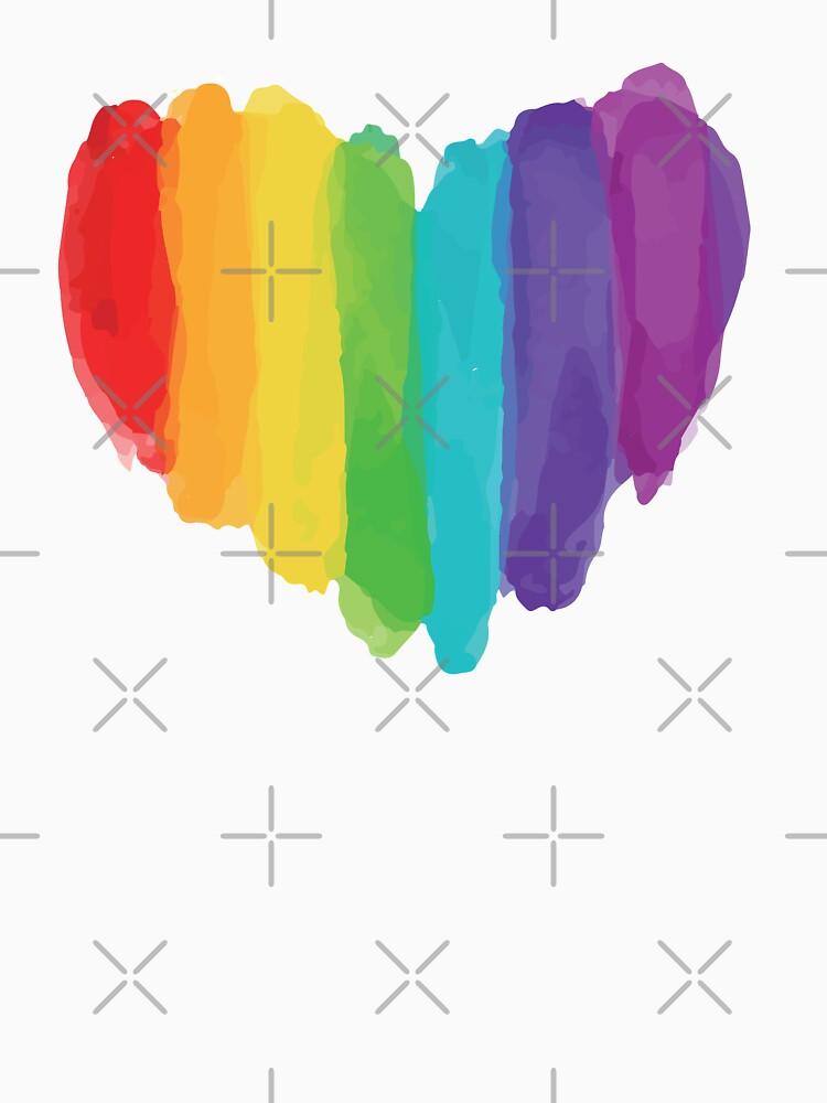 LGBTQ Watercolor Love Heart de SpaceAlienTees