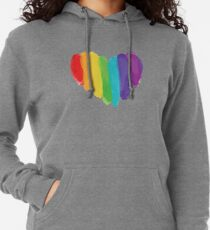 LGBTQ Watercolor Love Heart Lightweight Hoodie