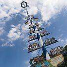 Marvelous Munich - Traditional Bavarian Maypole at Viktualienmarkt  by Georgia Mizuleva