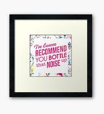 Bottle That Noise - Flowers Framed Print