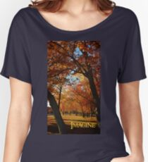 Imagine, inspiring autumn scene and blue skies. Women's Relaxed Fit T-Shirt