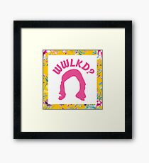 What Would LK Do? - Flowers Framed Print