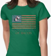United States Of Bacon 4th Of July Womens Fitted T-Shirt