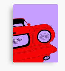 Red Mustang Car Canvas Print