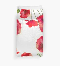 Poppy power Duvet Cover