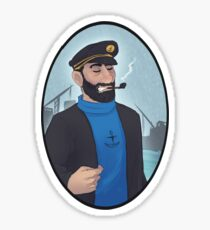 Captain Haddock portrait Sticker