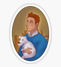 Tintin portrait Sticker