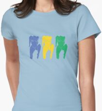 Triple Nipple  Womens Fitted T-Shirt