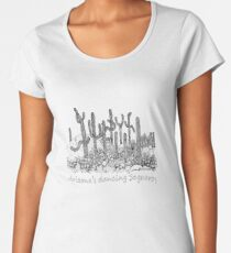 Dancing Saguaro Cactus Women's Premium T-Shirt