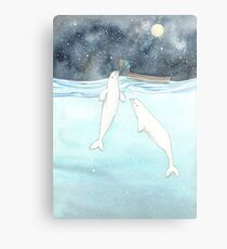 Beluga love Canvas Print