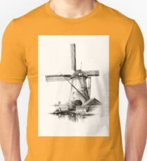 Windmill old retro vintage drawing 03 Unisex T-Shirt