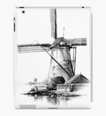 Windmill old retro vintage drawing 03 iPad Case/Skin