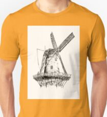 Windmill old retro vintage drawing 04 Unisex T-Shirt