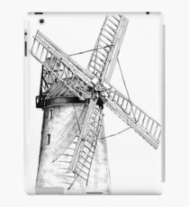 Windmill old retro vintage drawing 05 iPad Case/Skin