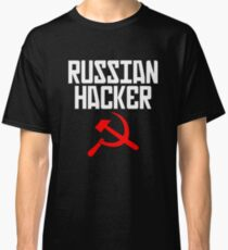 Russian Hacker T Shirt Hammer And Sickle Funny Sarcastic Classic T-Shirt