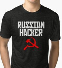 efa98071c Russian Hacker T Shirt Hammer And Sickle Funny Sarcastic Tri-blend T-Shirt