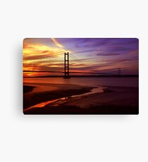 Humber Bridge Sunset Canvas Print