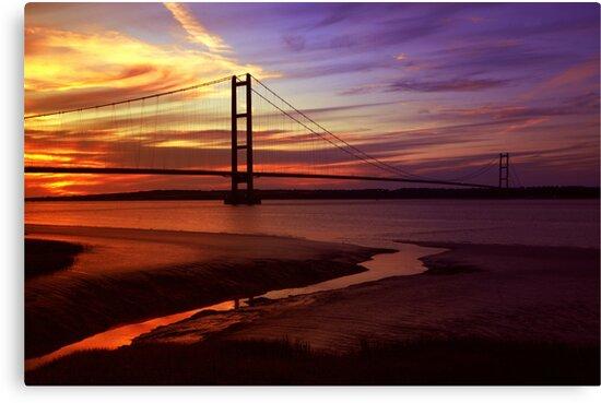 Humber Bridge Sunset by Dan-Painter