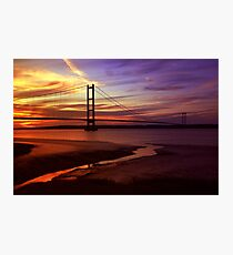 Humber Bridge Sunset Photographic Print