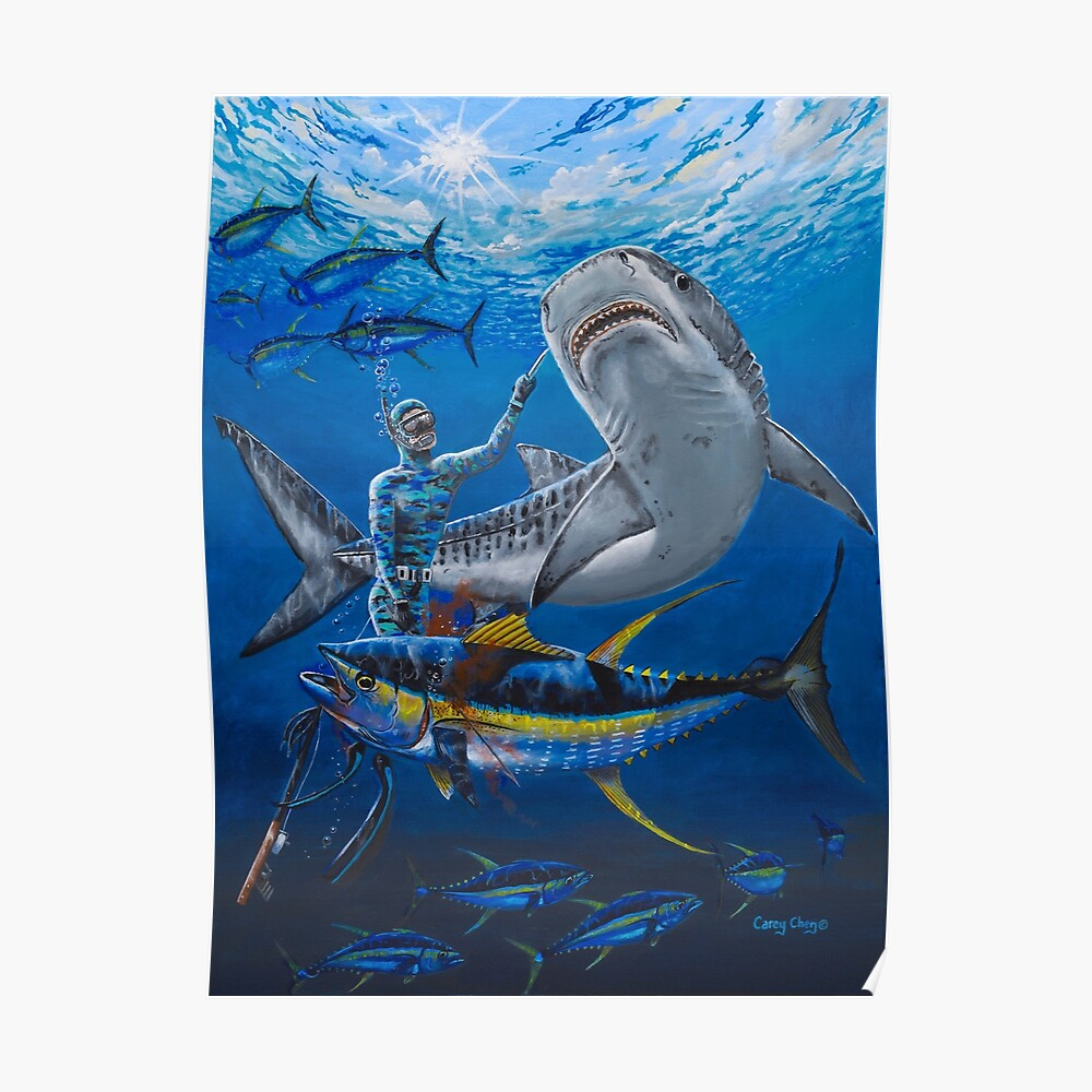Tiger shark encounter Poster