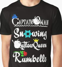 ships (white text) Graphic T-Shirt