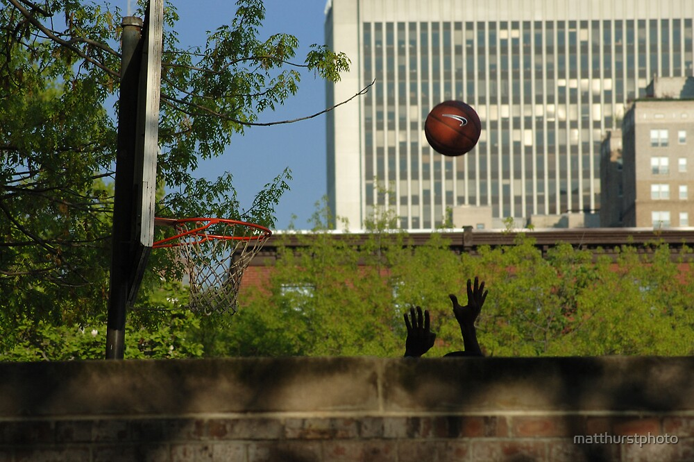 Shooting Baskets Solo by matthurstphoto