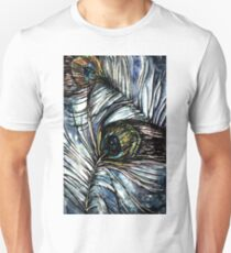 Peacock Abstract Slim Fit T-Shirt