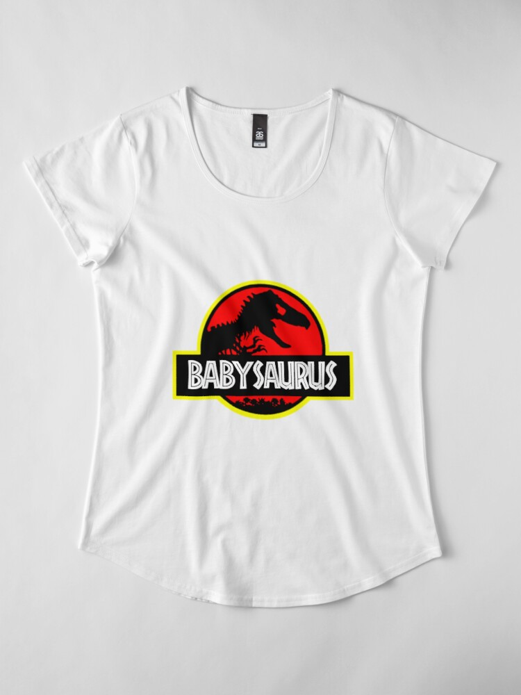Alternate view of Babysaurus Rex - Funny Premium Scoop T-Shirt