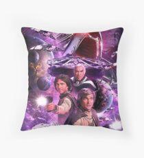 battlestar space Throw Pillow