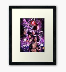 battlestar space Framed Print