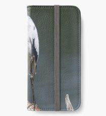 little blue heron iPhone Wallet