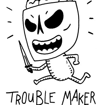 Trouble Maker Skeleton with knife by DiabolickalPLAN
