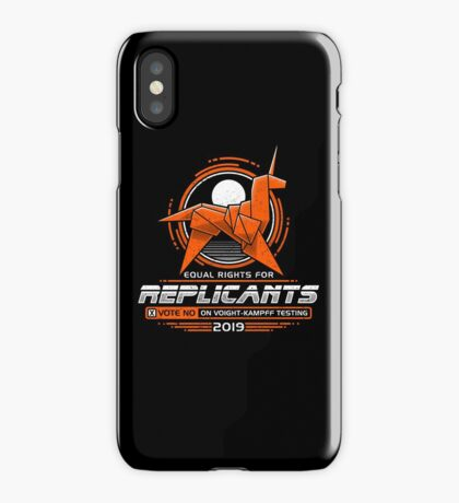 Equal Rights for Replicants iPhone Case/Skin