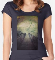 The Misty Mountains Call Women's Fitted Scoop T-Shirt