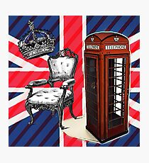 modern jubilee telephone booth london UK fashion Photographic Print