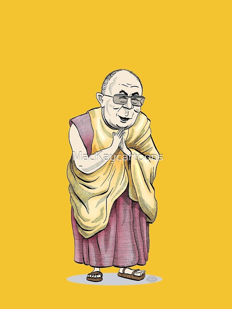 Dalai-Lama by MacKaycartoons