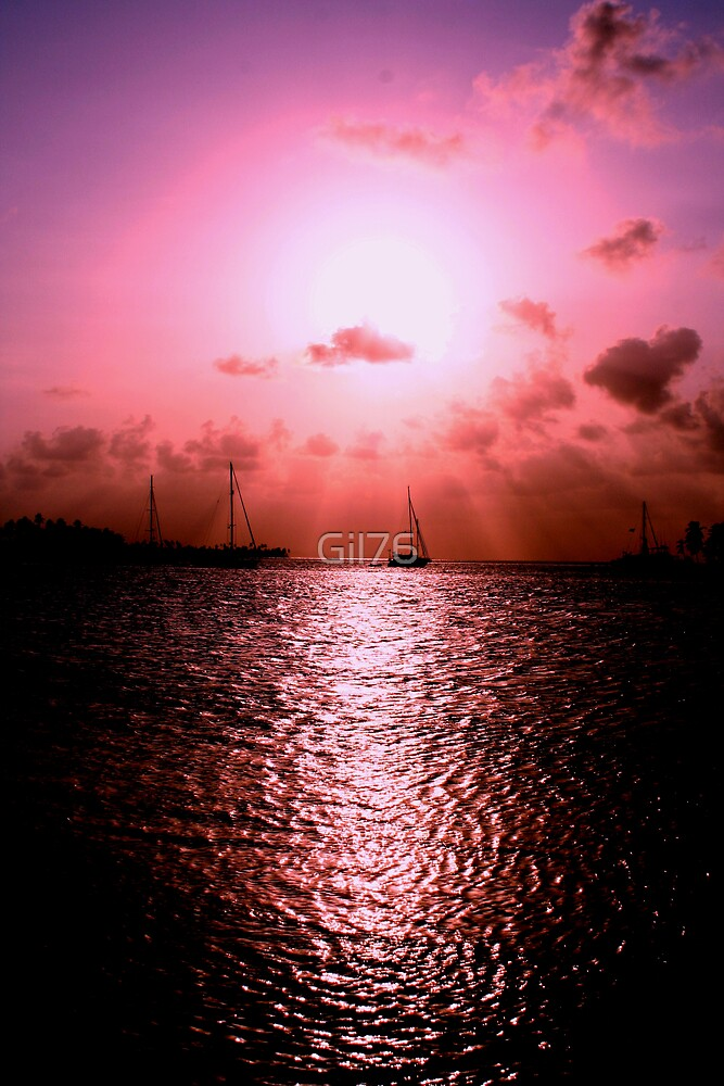 Sunset & sail by Gil76