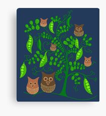 Gardening Owls Canvas Print