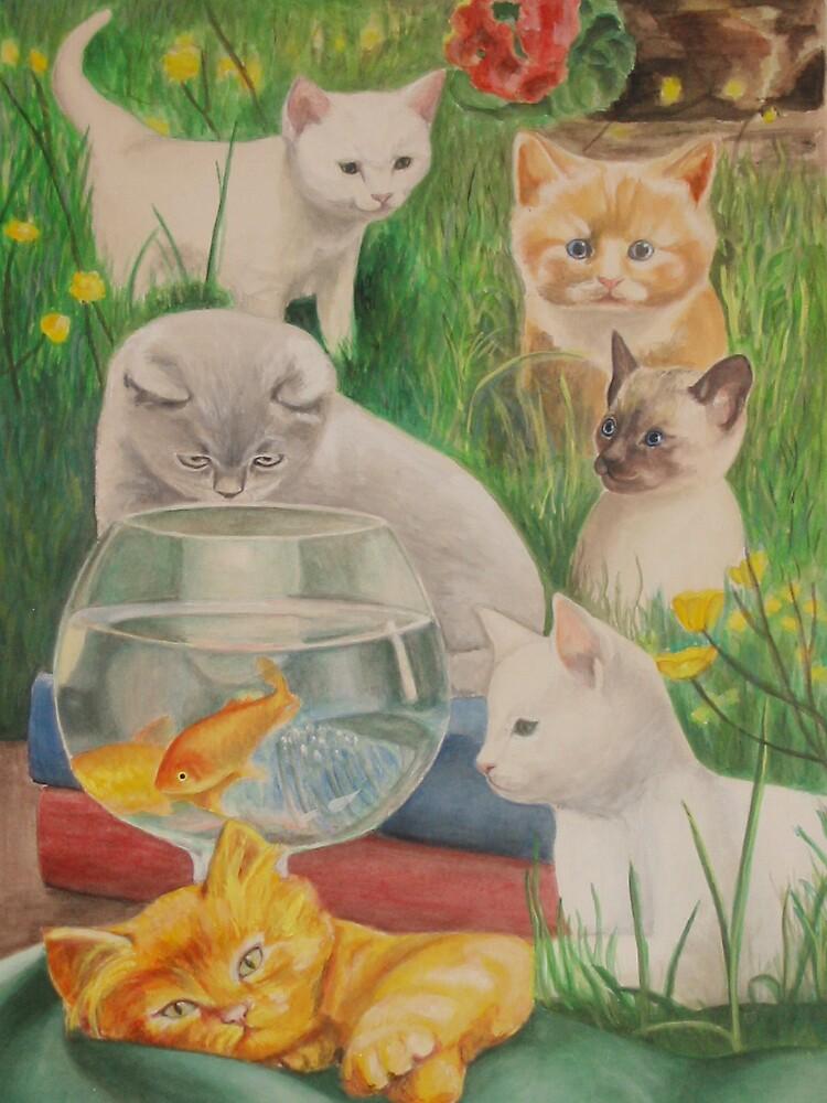 Kitten cats by KatyaP
